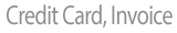 PayPal, credit card, invoice